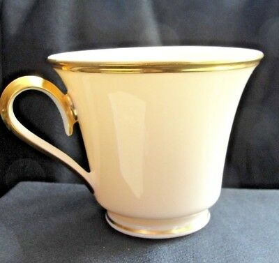 Lenox Eternal Footed Cup Wide Gold Trim Cream Ivory Porcelain Body Made in USA