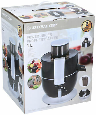 Dunlop Power 1L Profi-Entsafter 350W Presse-Agrumes Électrique Presse-Fruits