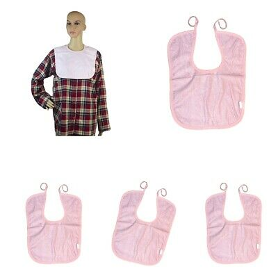 3 Pack Waterproof Adult Mealtime Bib Apron Protector Disability Aid Washable