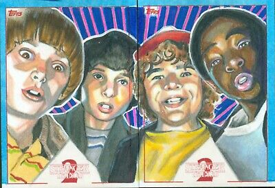 Stranger Things Season 2 The Boys Artist Return Sketch Card by Matt Stewart