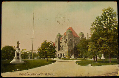Antique Postcard of Parliament Buildings, Queen's Park, Toronto, Canada