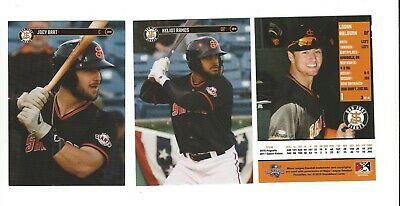 2019 San Jose Giants Team Set Complete Minors San Francisco Giants