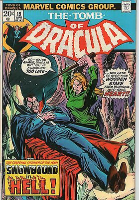 Tomb Of Dracula # 19 -   Vampire Blood In Blade ( Nd - 1974  )