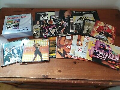 Job Lot 22 Promo CDS & Daily Mail 4 CD Box Set 60s 70s 80s 90s Oasis Prince