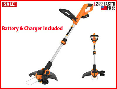 Electric Cordless String Trimmer Weed Eater Lawn Wacker Edger Grass Yard 20V New