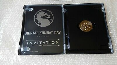 London Event Mortal Kombat 11 Steelbook & Reveal Coin Collectors PS4/XBOX ONE