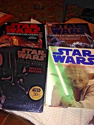 DK star wars complete locations cross sections visual dictionary Plus 3 Others