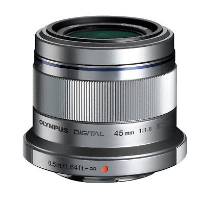 Olympus Pen M.Zuiko Digital 45mm F/1.8 MFT Lens (Silver) *NEW* *IN STOCK*