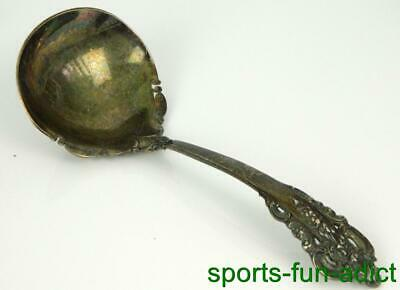 """GRAND BAROQUE by WALLACE Sterling Silver 6 5/8"""" Solid Gravy Ladle"""