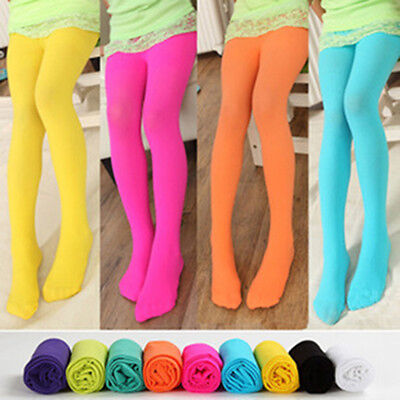 Girls Kids Cute Tights Pantyhose Stockings BaBy Colorful Velvet Ballet Sock New