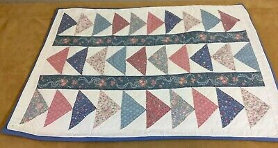 Patchwork Quilt Wall Hanging, Triangles, Flying Geese, Floral Calico Pastels