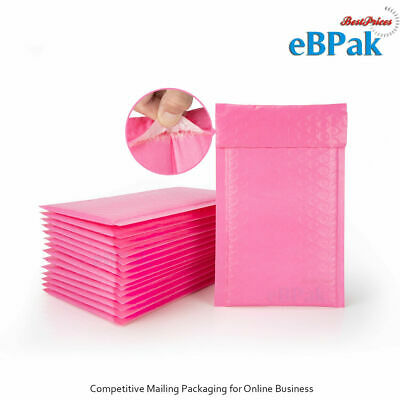 Poly Bubble Mailer #01 - Hot Pink Colour 160x230mm Plastic Padded Bag Envelope