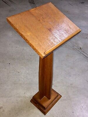 Hand made wooden LECTERN pedestal stand (church, pew, christian, music, lecturn)