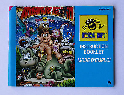 The Adventure Island II -- Nintendo NES -- Manual (NES-V7-FRA)