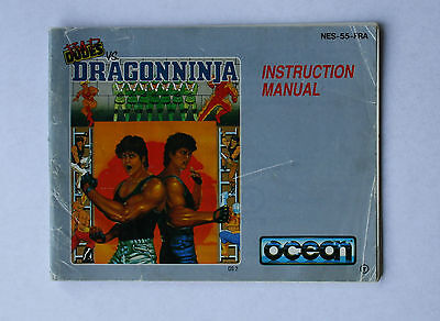 Bad Dudes vs Dragonninja -- Nintendo NES -- Manual (NES-55-FRA)