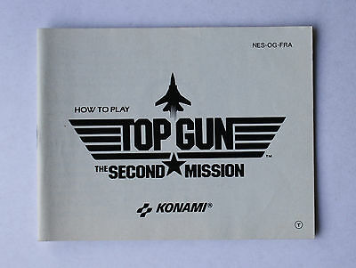 Top Gun Second Mission -- Nintendo NES -- Manual (NES-OG-FRA)