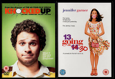 Knocked Up + 13 going on 30 Seth Rogen Heigl Paul Rudd Jennifer Garner 2 DVD 5*