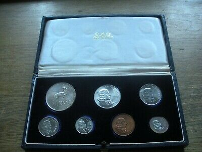 South Africa Proof Set 1965 7 Coins Cent 2 5 10 20 50 Cents And A Silver Rand