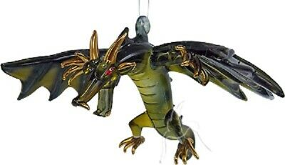 Glass Hanging Flying Dragon Black/Green