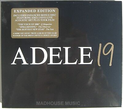 ADELE CD x 2 19 DELUXE Expanded DOUBLE w/ Slip Case OUTER New and SEALED