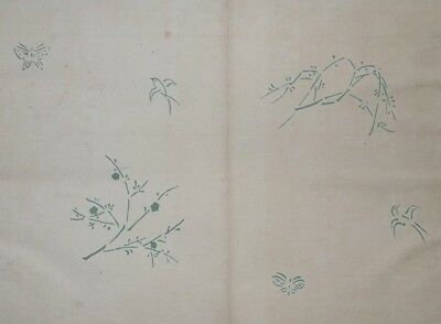 KIMONO FABRIC DESIGNS XXIX - 1913 TAISHO ERA - Original Japanese Woodblock Print