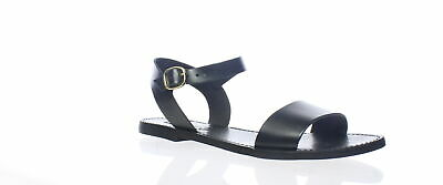 540a5ba86b0 STEVE MADDEN WOMENS Donddi Black and Brown Leather Ankle Strap Flats ...