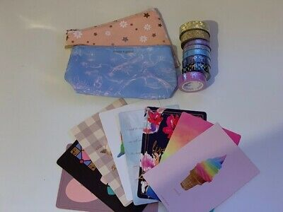 Simply Gilded Bundle - 8 washis, 8 Postcards, and 2 Bags