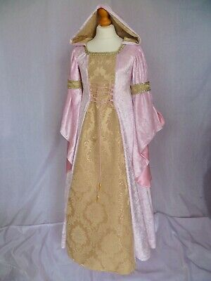 Girls Pink Medieval Dress Renaissance Gown made to measure from age 7 to 8 yrs