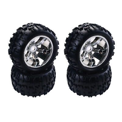 4Piece RC Car Wheel Hub Tyre Monster Truck Replacement Wear-Resistant Wheels