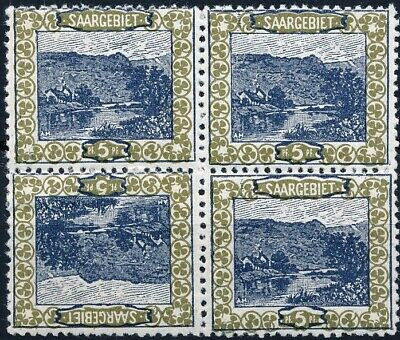 [53058] Saar 1921 good Tête-bèche stamps in block of 4 MH Very Fine stamps