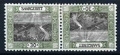 [53059] Saar 1921 good Tête-bèche pair MH Very Fine Signed stamps $60