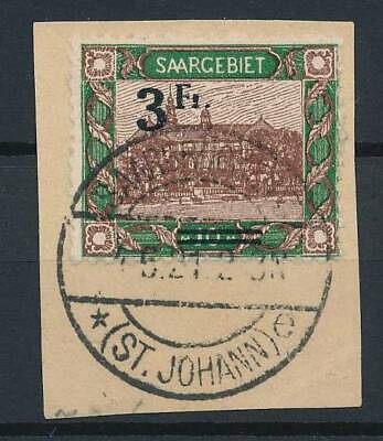 [53062] Saar 1921 good Used Very Fine overprinted stamp $30