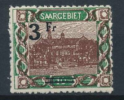 [53063] Saar 1921 Variety no point after Fr good MH Very Fine stamp $90