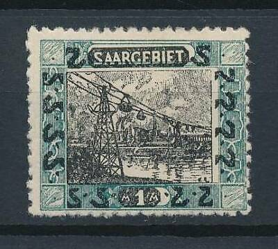 [53073] Saar 1921 Scarce Frame Error MH VF Signed stamp $1000 (2 pics in desc)