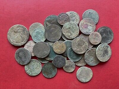 36 Old English Milled Coins As Dug UK