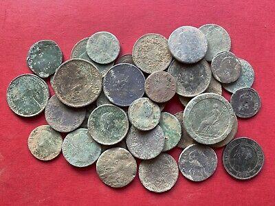 37 Old English Milled Coins As Dug UK