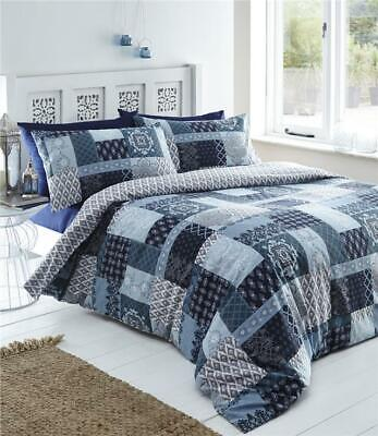 SINGLE Duvet cover set teal & charcoal grey new reversible quilt cover bedding