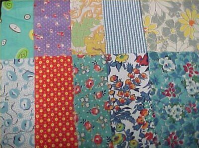 10 BEST '20s Prints Vintage Cotton Quilt Fabric Scraps Geometric Remnant RARE