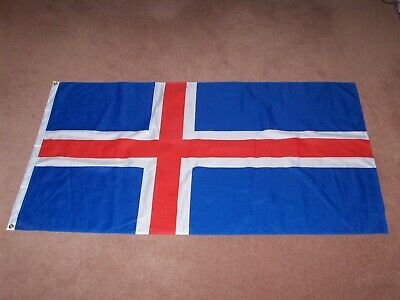 Large Icelandic Flag 150 x 90cm, National Flag of Iceland, Tough Woven Material