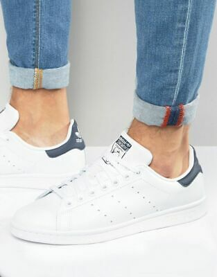 Adidas Stan Smith Leather White Navy Classic Retro Trainers Size 5/38