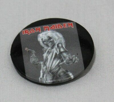 Iron Maiden 1 inch Button Badge Eddie Heavy Metal Rock and Roll