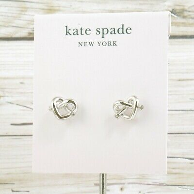 39aa35233 NWT KATE SPADE Loves Me Knot studs earring $48 Silver - $28.99 ...
