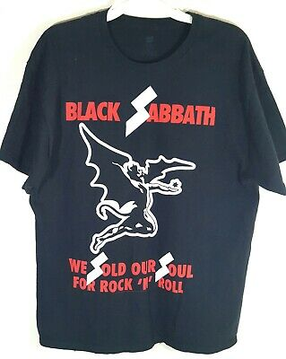 Black Sabbath We Sold Our Soul For Rock And Roll Shirt XXL