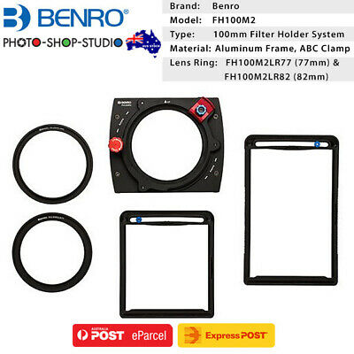 AU STOCK *Benro Master 100mm Square Filter Holder Kit FH100MarkII with 77mm,82mm