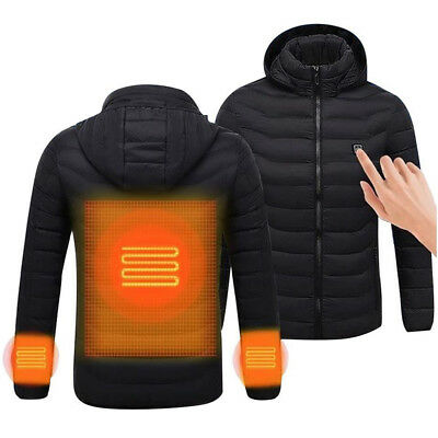 Unisex USB Electric Heated Jacket Warm Up Heating Pad Winter Body Warmer AU