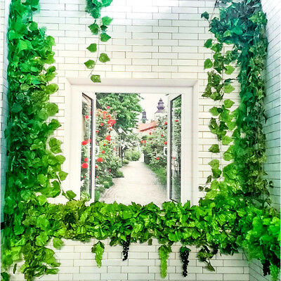 Artificial Grape Leaf Garland Plants Vine Fake Foliage Simulated Leaves 82ft RA8
