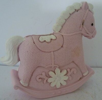 Baby Girl Keepsake Rocking Horse Money Box Christening Baby Shower Newborn Gift