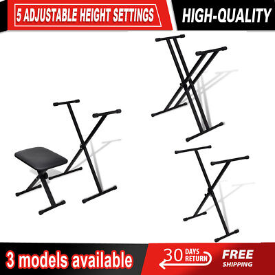 Adjustable X Frame Keyboard Stand Folding Height Portable Heavy Duty for Bands