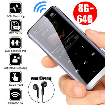 64GB bluetooth MP3 Player HIFI Sport Music Speakers MP4 Media FM Radio Recorder