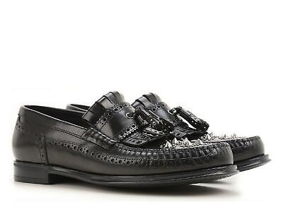cf813af984cda Dolce&Gabbana Men's loafers shoes in black Calf leather studs Size US8.5 -  EU41½